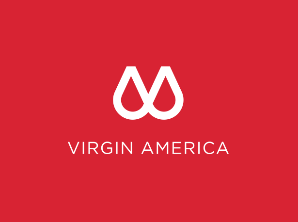 virgin america's new logo - april fools